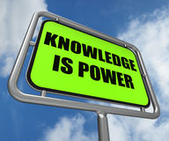 Knowledge is Power Sign Represents Education Stock Photos