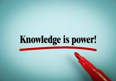 Knowledge is power Royalty Free Stock Photos