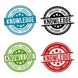 Knowledge Round Stamp Collection. Eps10 Vector Badge vector illustration