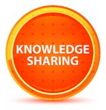 Knowledge Sharing Natural Orange Round Button. Knowledge Sharing Isolated on Natural Orange Round Button royalty free illustration