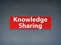 Knowledge Sharing Red Banner Abstract Background. Knowledge Sharing Isolated on Red Banner Abstract Background illustration Design royalty free illustration