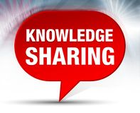 Knowledge Sharing Red Bubble Background vector illustration