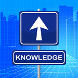 Knowledge Sign Represents Answer Inform And Pointing Stock Photography
