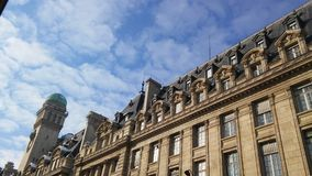 Knowledge is sublime. Observatory of the Sorbonne. View from Saint-Jacques street Royalty Free Stock Photo