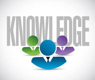 Knowledge team sign illustration design graphic Stock Photography
