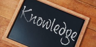 Composite image of knowledge text against white background Stock Photo