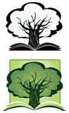 Knowledge Tree. Illustration as a concept of a growing knowlege royalty free illustration
