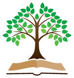 Knowledge Tree Book Logo Royalty Free Stock Image