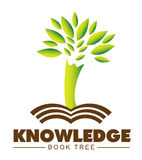 Knowledge tree book logo Royalty Free Stock Photography