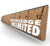 Knowledge Unlimited Ruler High Intelligence Education Stock Images