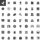 Knowledge vector icons set. Modern solid symbol collection, filled style pictogram pack. Education signs, logo illustration. Set includes icons as anthropology Stock Image