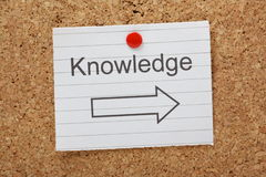 Knowledge This Way royalty free stock photos