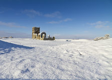Knowlton Church in Winter Stock Image