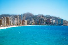 View of benidorm,Spain, in summer Royalty Free Stock Image