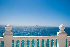 White balustrade in Benidorm, Spain Stock Image