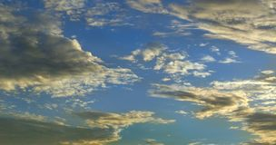 Hd Sunset clouds on blue sky | Clouds in a lovely shape stock images