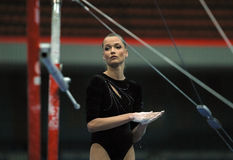 Known gymnast Svetlana Horkina Stock Photography