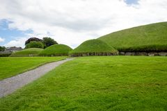 Knowth is a Neolithic passage grave in Ireland stock images