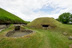 Knowth is a Neolithic passage grave in Ireland royalty free stock photo