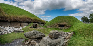 Knowth Neolithic Passage Tomb, Main Mound in Ireland Stock Photography