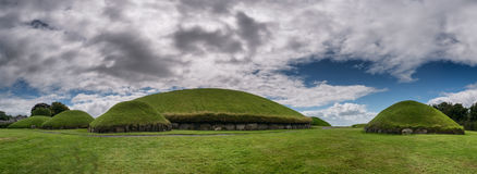 Knowth Neolithic Passage Tomb, Main Mound in Ireland. Knowth Neolithic Passage Tomb, Main Mound, Ireland Stock Images