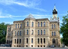 Knox County Courthouse. This is a Summer picture of the Knox County Courthouse located in Galesburg, Illinois Stock Photos