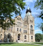 Knox County Courthouse. This is a Summer picture of the Knox County Courthouse located in Galesburg, Illinois.  The courthouse was constructed 1884-1886 and is Royalty Free Stock Photos