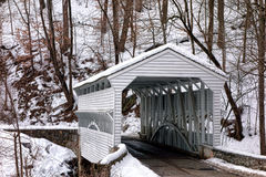 Knox Covered Bridge al parco nazionale della forgia della valle Immagine Stock Libera da Diritti