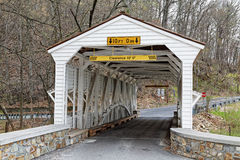 Knox Covered Bridge en parc de forge de vallée photo libre de droits
