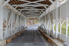 Knox Covered Bridge no parque da forja do vale imagem de stock
