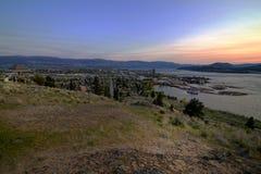 Knox Mountain en la puesta del sol Imagen de archivo libre de regalías