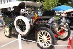 1911 Knox Touring. A side view of the rare 1911 Knox Touring at the Geneva Concours L'Elegance on August 24, 2014 to benefit the Pediatric Programs at Cadence Stock Photography