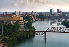 Knoxville. View of downtown Knoxville from a bluff above the Tennessee River Royalty Free Stock Photos