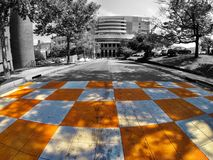Knoxville Checker Neyland. Colorsplash Knoxville on Stadium road for the Vol Walk Stock Photo