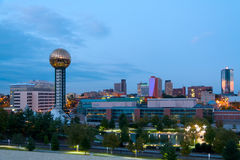 Knoxville at Dusk. The city of Knoxville, Tennessee at dusk Royalty Free Stock Images