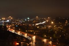 Knoxville Nightscape. This was taken on top of a parking garage in downtown knoxville Royalty Free Stock Photography