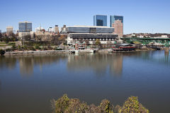 Knoxville panorama. Knoxville morning panorama seen accross Tennessee River Stock Images