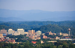 Knoxville Skyline. View of Knoxville skyline and the Great Smoky Mountains Stock Images