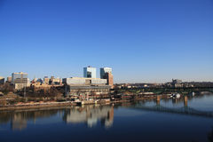 Knoxville Skyline. Skyline view of downtown Knoxville, Tennessee from Chapman Highway bridge Royalty Free Stock Photography
