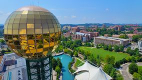 Knoxville Sunshpere close up. Great close up of the Knoxville Sunshpere overlooking the park and campus Stock Image