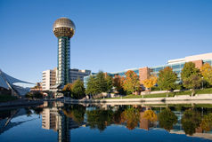Knoxville Sunsphere. And World's Fair Park in early autumn Stock Photos