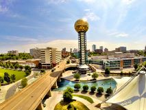 Knoxville Sunsphere. Sunsphere in Knoxville Stock Images