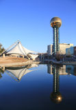 Knoxville Sunsphere. Sunshpere and amphitheater in downtown Knoxville Royalty Free Stock Photo