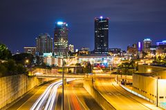 Knoxville Tennessee. Knoxville, Tennessee, USA downtown at night Stock Photo