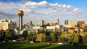 Knoxville, Tennessee City Skyline. In late afternoon, cityscape Royalty Free Stock Images