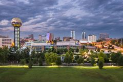 Knoxville Tennessee. Knoxville, Tennessee downtown skyline Stock Images