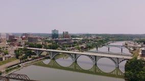 Knoxville, Tennessee, Etats-Unis du centre au parc juste du ` s du monde Knoxville Convention Center Vue a?rienne 4K clips vidéos