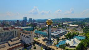 Knoxville Tennessee. Great city of Knoxville view with the sunsphere in the center Stock Photography