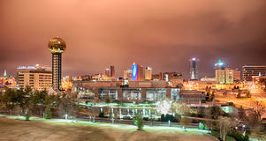 Knoxville Tennessee at night Royalty Free Stock Image