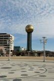 Knoxville, Tennessee, parque da feira de mundos, Sunsphere Imagens de Stock